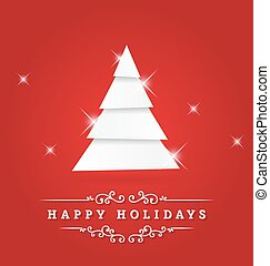 Happy Holidays Vector Greeting Card