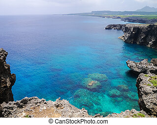 Cape Umahana in Yonaguni Island, western border island of...