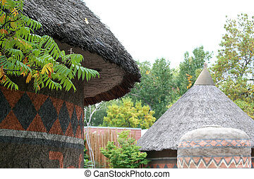 African style dwellings - African style thatched roof...