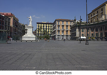 Piazza Dante, Naples - Naples, Italy: Piazza Dante, a large...