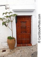legno,  Terracotta, fiore, porta, fioriera
