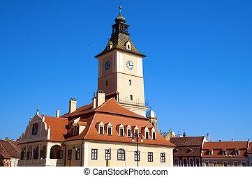 Brasov, Romania, Piata Sfatului, old town main square