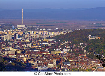 Brasov city in Transylvania, Romania, general view