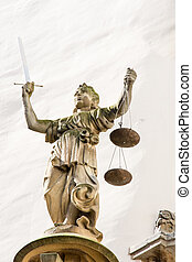 Lady Justice - Sculpture of Lady Justice Justitia from 1591...