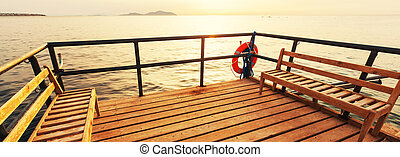 Boardwalk on the beach - Boardwalk on beach