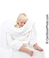 Boy Playing Peek a Boo With a Towel - Baby Boy Playing Peek...