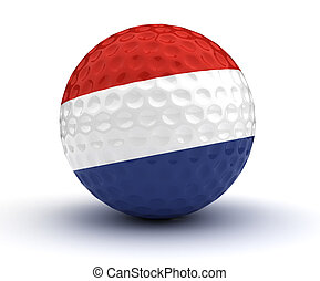 Dutch Golf Ball (Isolated with clipping path)