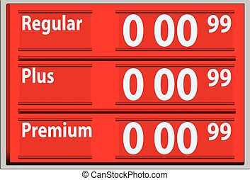 Stand with gasoline prices