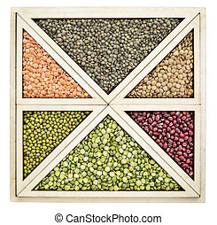 beans and lentils abstract - triangles and squares abstract...