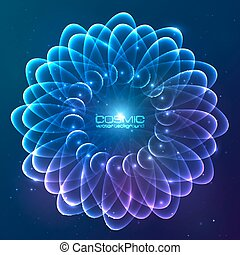 Blue abstract cosmic vector background