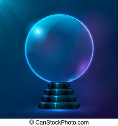 Blue vector magic spiritual ball