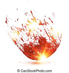 Red abstract meteorite vector explode - Red vector abstract...