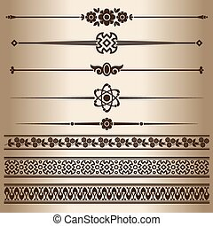Decorative lines Design elements - dividing lines and...