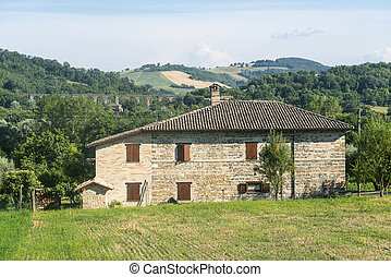 San Severino Marche Italy - Landscape near Tolentino and San...