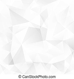 White crystal triangles vector abstract background - White...