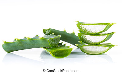 Aloe Vera leaves on white background