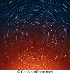 Abstract composition of the stars path