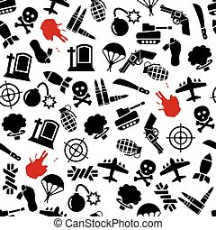 war seamless pattern