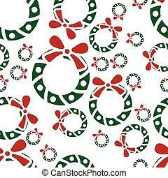 christmas garland seamless pattern