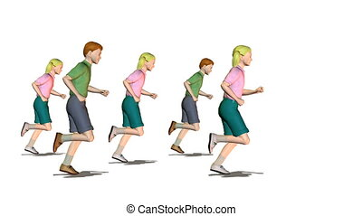 running child group looping