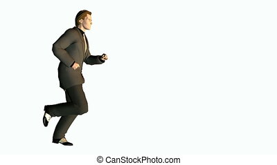 businessman running loop seamless