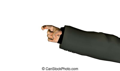 business man finger counting. loop