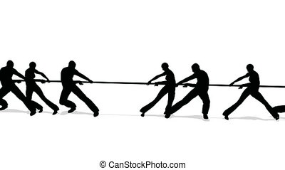 tug-of-war people silhouette - Tug-of-war people silhouette