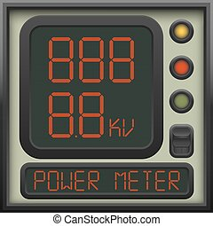 The user interface of the device - a power meter, ammeter,...