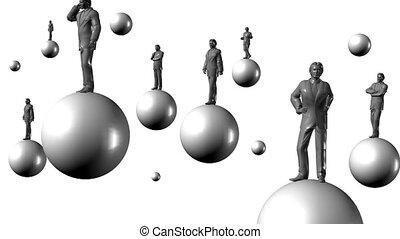 Businessmen on balls