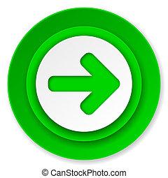 right arrow icon, arrow sign