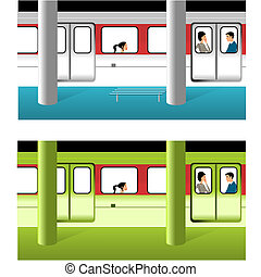 Subway in two colors