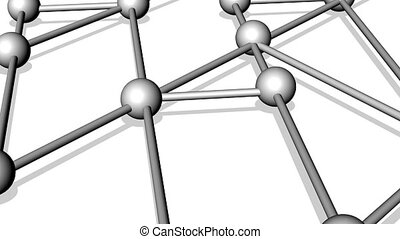 Network from the connected balls