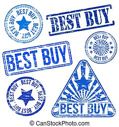 Best Buy Stamps - Best buy stamps. Different shape vector...