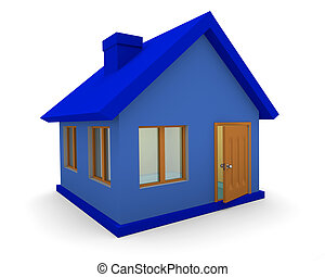 3d house isolated