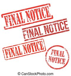 Final Notice Stamps
