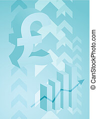 Pound success illustration - Abstract financial success...