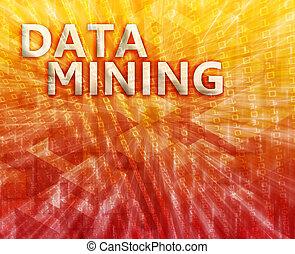 Data mining illustration - Data mining abstract, computer...
