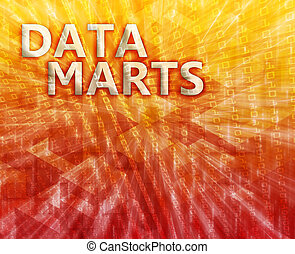 Data mart illustration - Data mart abstract, computer...