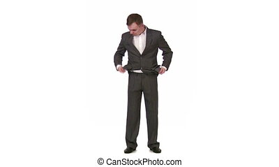 businessman with empty pockets - Businessman with empty...