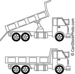 Dump truck - Illustration of dump truck isolated on white...