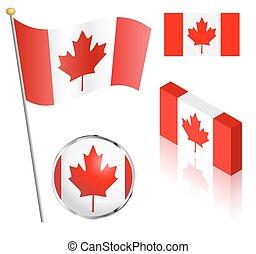 Canadian Flag Set