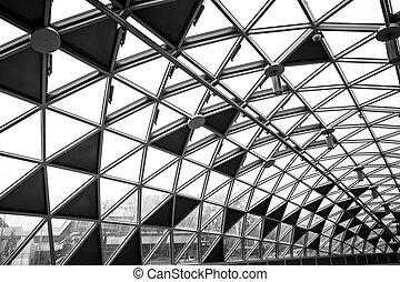 Modern conceptual high tech building - glass office...