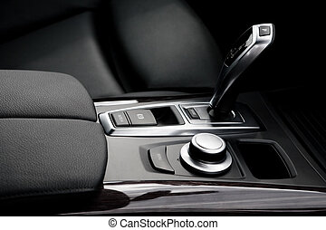 modern car - The gear shift lever in the modern car