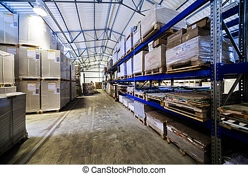 modern warehouse - storage of goods in a modern warehouse