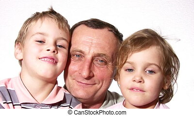 grandfather with children - Grandfather with children