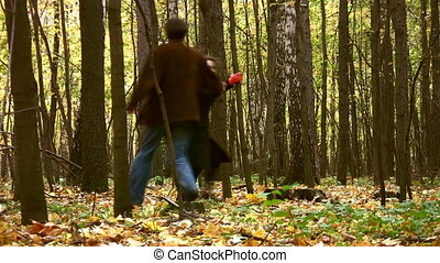 couple in autumn park - Couple in autumn park