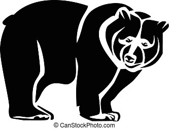 Bear black icon