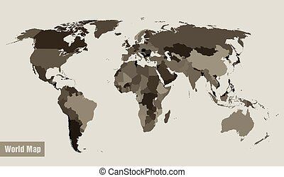map of the world divided by country - vector map of the...