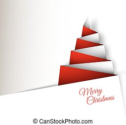 Simple vector christmas tree made from paper