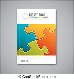 Modern Vector abstract brochure report design template -...